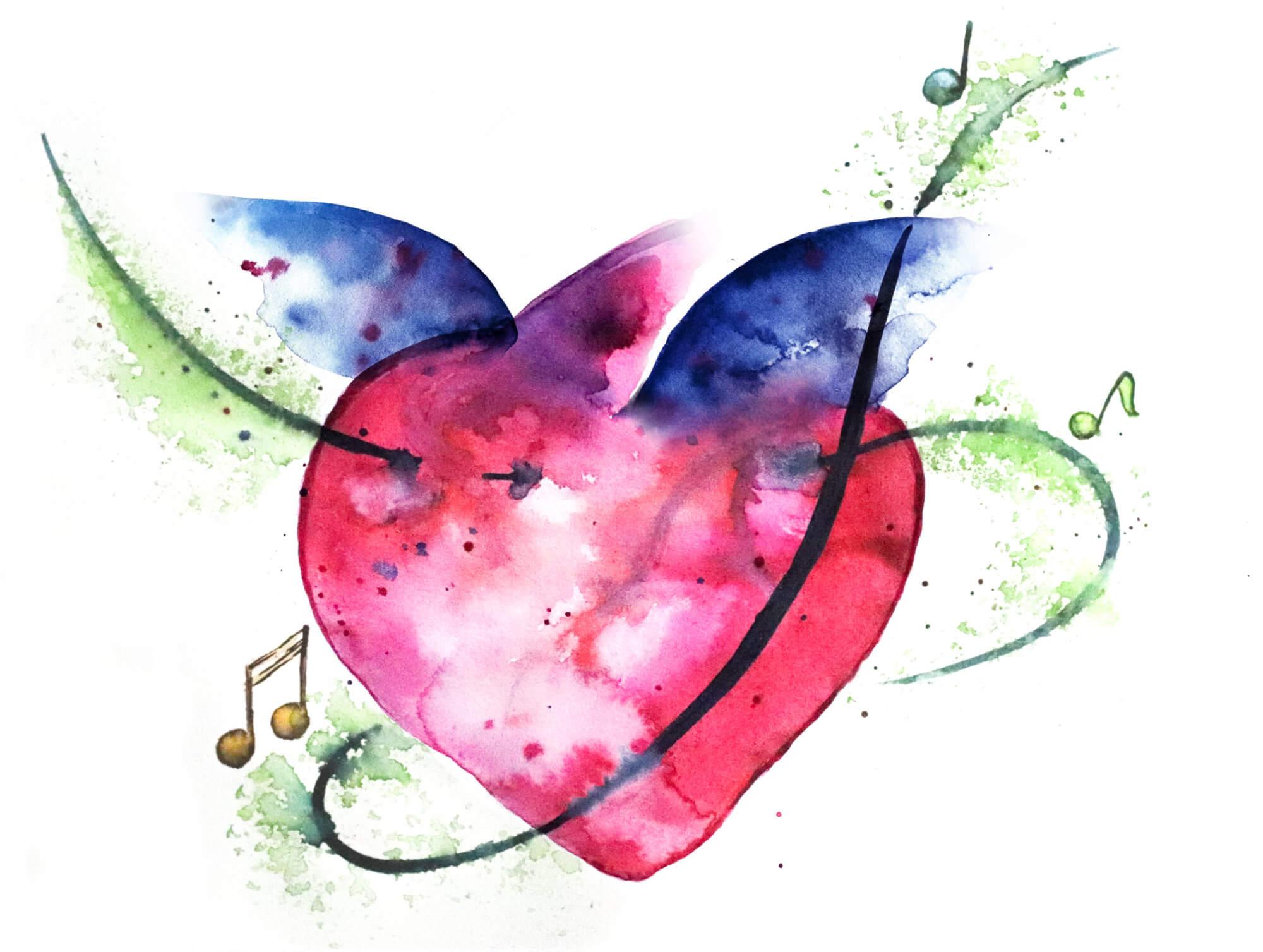 heartmedley logo illu2 DIE mitGrün