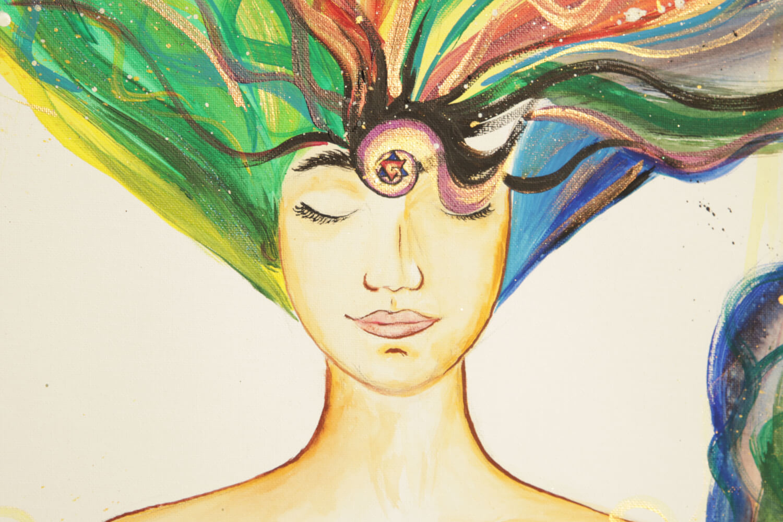woman 3eye consciousness univers 01